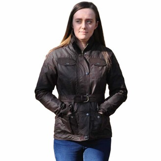 Game Technical Apparel Game Ladies Morgan Antique Wax Jacket with Belt | Lined Unpadded Waxed Cotton Brown