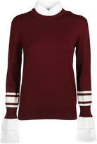 Victoria Beckham Contrast Cuff Sweater