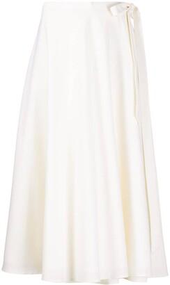 ENVELOPE1976 A-line side tie skirt