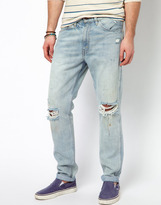 Levi's Jeans 1960 605 Slim With Rips