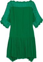 Etoile Isabel Marant Aude embroidered georgette mini dress