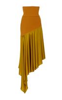 Prabal Gurung Knit Skirt with Silk Hem