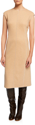 Agnona Sleeveless Platino Jersey Dress