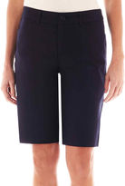 ST. JOHN'S BAY St. Johns Bay Secretly Slender Twill Bermuda Shorts