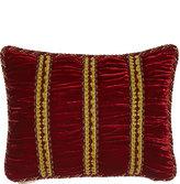 "Dian Austin Couture Home Bohemian Rhapsody Shirred Panne Velvet Pillow, 12"" x 16"""