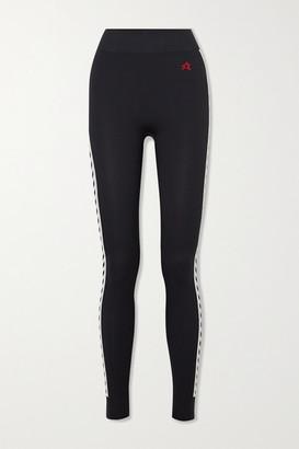 Perfect Moment Zigzag Stripe Thermal Stretch Leggings - Black