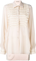Ermanno Scervino pearl buttons shirt - women - Silk/Brass/Polymethyl Methacrylate - 44