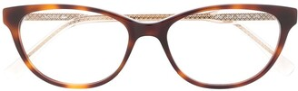 Lacoste oval frame glasses