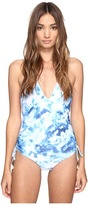 Seafolly Caribbean Ink Deep V Maillot Women's Swimsuits One Piece