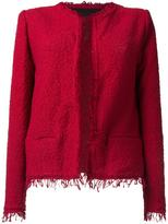 IRO frayed bouclé jacket - women - Cotton/Polyamide - 38
