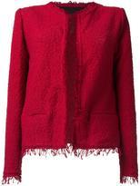 IRO frayed bouclé jacket