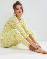 Asos Bunny Print Long Sleeve Tee and Legging Pajama Set
