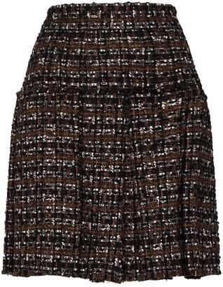 Dolce & Gabbana Pleated Tweed Skirt