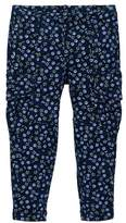Tea Collection Pin Pin Print French Terry Cargo Pants (Toddler, Little Girls, & Big Girls)