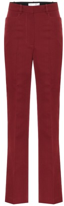 Victoria Beckham High-rise straight wool-blend pants