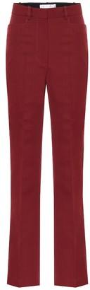 Victoria Beckham High-rise straight wool-blend pants