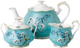 Royal Albert 100 Years 1950 Teapot Sugar & Creamer Set - Festival