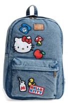 Loungefly Girl's Hello Kitty Patch Denim Backpack - Blue