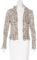 Chanel Tweed Tulle Blazer