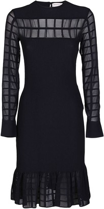 Alexander McQueen Ruffled Sheer Dress