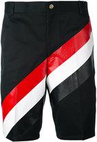 Thom Browne tricolour shorts - men - Cotton - 0