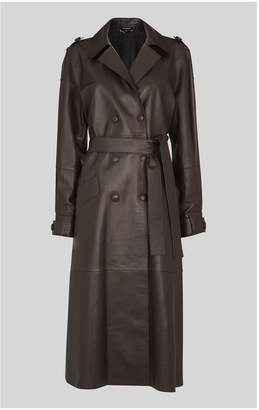 Whistles Leather Trench