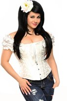 DaisyCorsets Daisy Corsets Embroidered Peasant Corset Top
