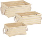 Honey-Can-Do STO-06684 Zig Zag Nesting Baskets with Handles