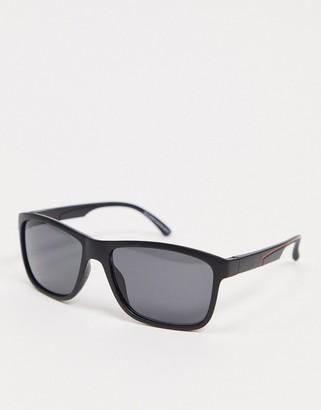 SVNX square sunglasses in matte black