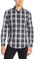 Original Penguin Men's Long-Sleeve Slub Plaid Shirt