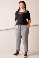 Yours Clothing Charcoal Joggers With Black Contrast Cuff