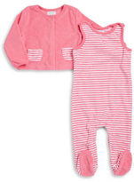 Absorba Striped Footie and Jacket Set