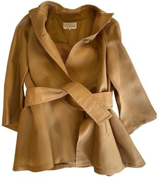 Gianfranco Ferre Camel Silk Coat for Women Vintage