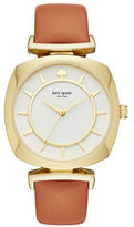 Kate Spade Barrow Stainless Steel Leather Strap Watch