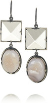 Bottega Veneta Sterling silver agate and crystal drop earrings