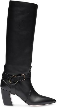 Miu Miu side buckle strap boots