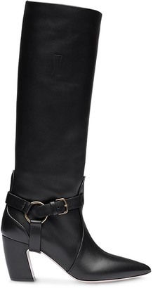 Miu Miu Side Buckle Strap Boots