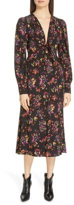 Veronica Beard Amber Silk Blend Midi Dress