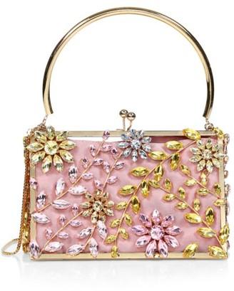 Rosantica Piccola Sofia Floral-Embellished Box Bag