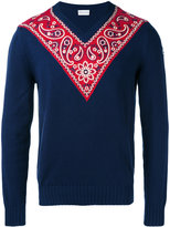 Moncler paisley panel jumper - men - Cotton/Polyester - M