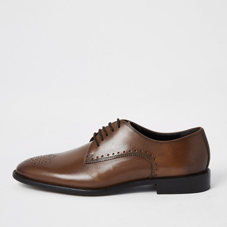 River Island Brown leather lace-up brogues