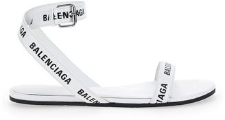 Balenciaga Logo Print Strap Sandals
