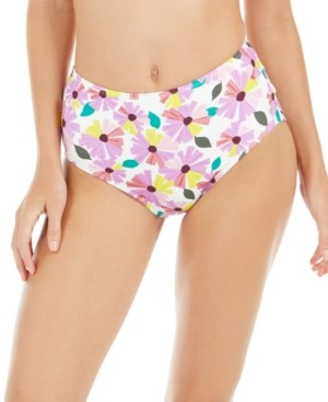 Kate Spade Wallflower Printed High-Waist Bikini Bottoms Women's Swimsuit