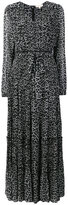 MICHAEL Michael Kors leopard print tiered dress
