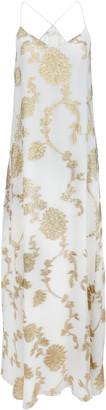 MARIE FRANCE VAN DAMME Dahlia Metallic Fil CoupA Silk Maxi Dress