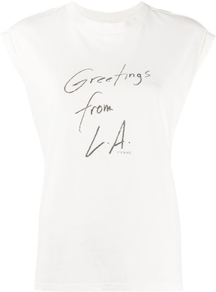 Frame Greetings From LA tank top