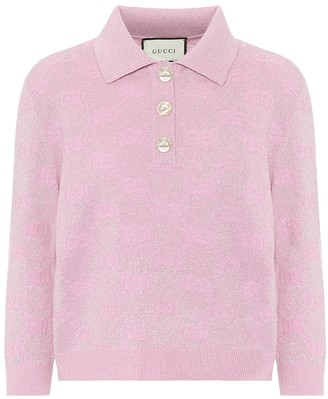 Gucci GG cropped wool-blend sweater