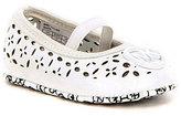 MICHAEL Michael Kors Girls' Baby Rae Floral Perforated Elastic Strap Crib Shoe