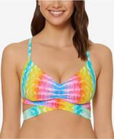 fe9f17ea42 Bleu Rod Beattie Printed Cross-Back D-Cup Bra-Sized Bikini Top Women s