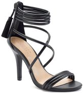 Lauren Conrad Women's Crisscross Ankle Cuff High Heels